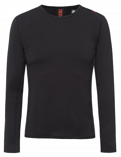 Футболка мужская Descente Base Layer Top Black/Electric Red
