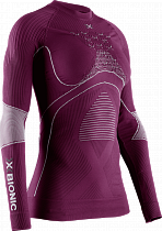 Футболка женская X-Bionic Energy Accumulator 4.0 Round Neck Lg Sl Plum/Pearl Grey