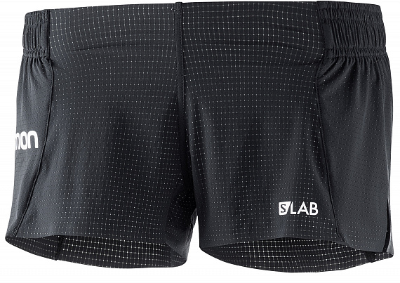 Шорты женские Salomon S/Lab Short 3 Black - Фото 1 большая