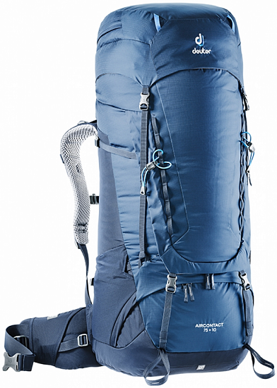 Рюкзак Deuter Aircontact 75 + 10 Midnight-Navy - Фото 1 большая