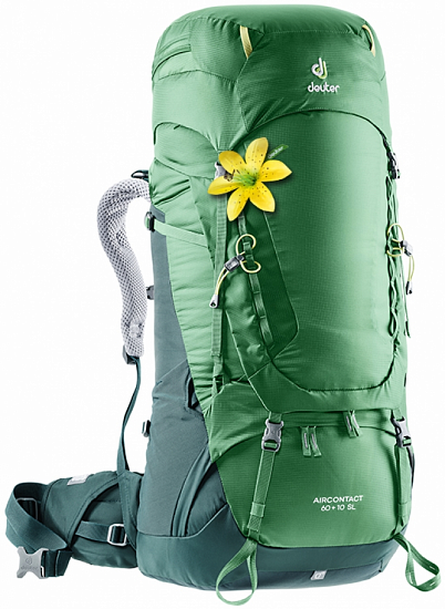 Рюкзак Deuter Aircontact 60 + 10 Sl Leaf-Forest - Фото 1 большая