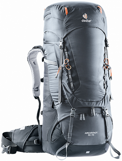 Рюкзак Deuter Aircontact 55 + 10 Graphite-Black - Фото 1 большая