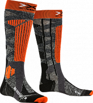 Носки X-Socks Ski Rider 4.0 Stone Grey Melange/X-Orange