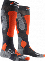 Носки X-Socks Ski Touring Silver 4.0 Anthracite Melange/Orange Fluo