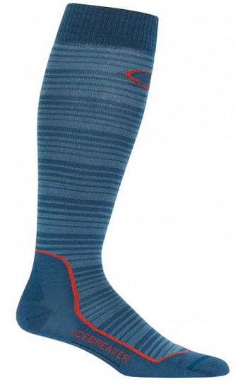 Носки мужские Icebreaker Ski+ Ultra Light OTC Horizons Prussian Blue/Granite Blue/Horizons