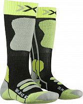Носки детские X-Socks Ski JR 4.0 Anthracite Melange/Green Lime