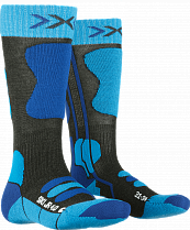 Носки детские X-Socks Ski 4.0 Antracite Melange/Electric Blue