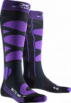 Носки женские X-Socks Ski Control 4.0 Charcoal Melange/Purple