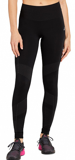 Тайтсы женские ASICS Seamless Performance Black - Фото 1 большая