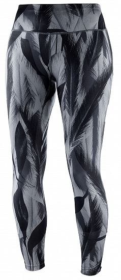 Тайтсы женские Salomon Agile Long Tight Bk/Ebony