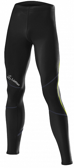 Брюки мужские Loffler Running Black/Lime