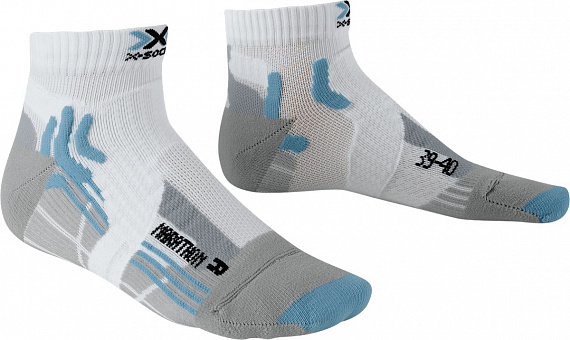 Носки женские X-Socks Marathon White/Sky Blue - Фото 1 большая