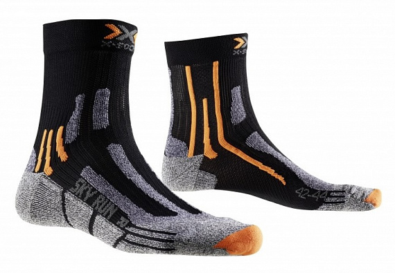 Носки X-Socks Sky Run Two Black - Фото 1 большая