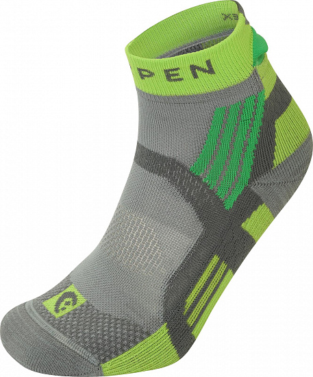 Носки Lorpen T3 Trail Running Padded Grey/Green - Фото 1 большая
