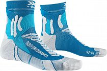 Носки X-Socks Run Performance Teal Blue/Pearl Grey