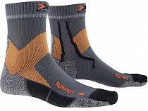 Носки X-Socks Run Fast Pearl Grey/Sunset Orange