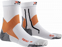 Носки X-Socks Run Fast Arctic White/Sunset Orange