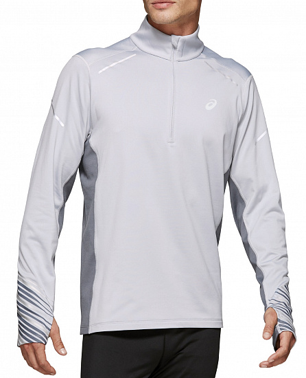 Футболка мужская ASICS Lite-Show 2 Winter LS 1/2 Zip Top Piedmont Grey/Metropolis
