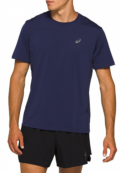 Футболка мужская ASICS Race SS Top Peacoat - Фото 1 большая