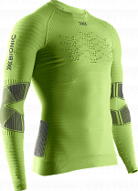 Футболка мужская X-Bionic Effektor 4.0 Run Powershirt Lg Sl Effektor Green/Anthracite