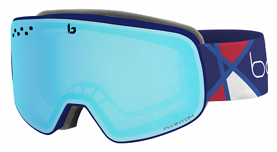 Горнолыжная маска Bolle Nevada Alexis Pinturault Signature Series Phantom Vermillon Blue - Фото 1 большая