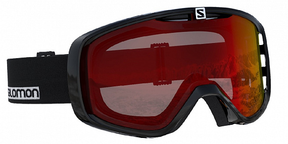 Горнолыжная маска Salomon Aksium Black/Univ Mid Red