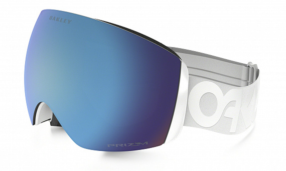 Горнолыжная маска Oakley Flight Deck Factory Pilot Whiteout/Prizm Sapphire Iridium - Фото 1 большая