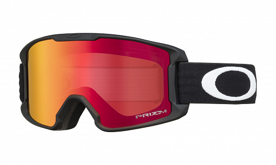 Горнолыжная маска Oakley Line Miner Youth Matte Black/Prizm Snow Torch Iridium - Фото 1 большая