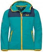 Куртка детская Jack Wolfskin Fourwinds Green Ocean