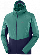 Куртка мужская Salomon Agile Fz Hoodie Pacific/Night Sky