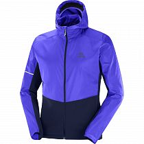 Куртка мужская Salomon Agile Fz Hoodie Clematis Blue/Night Sky