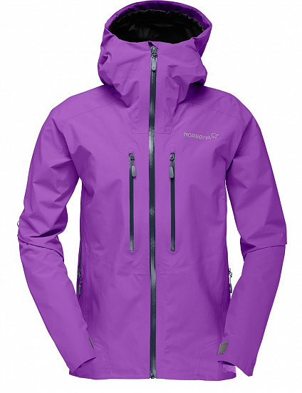 Куртка женская Norrona Trollveggen Gore-Tex Light Pro Royal Lush - Фото 1 большая