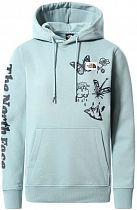 Толстовка женская The North Face Himalayan Bottle Source Po Hoodie Tourmaline Blue
