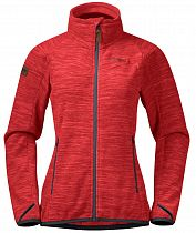 Куртка женская Bergans Hareid Fleece NoHood Red Mel/SolidDkGrey