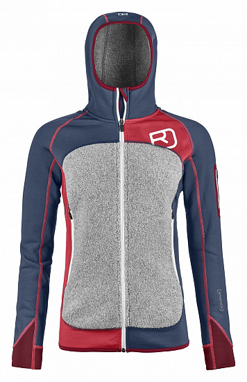 Куртка женская Ortovox Fleece Plus Hoody Night Blue
