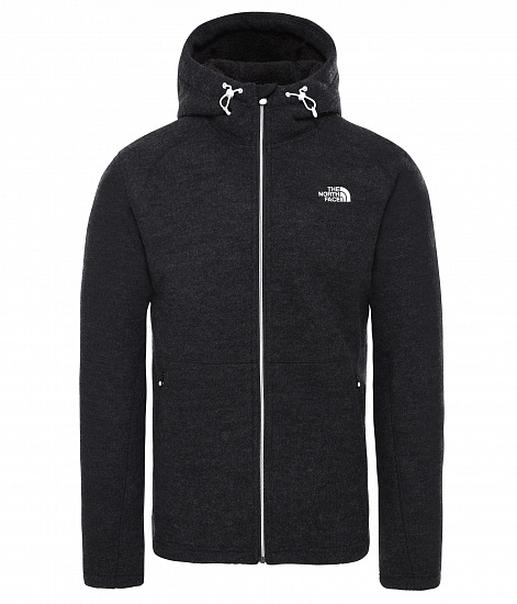 Куртка мужская The North Face Zermatt Full Zip Hoodie Tnf Black Heather - Фото 1 большая