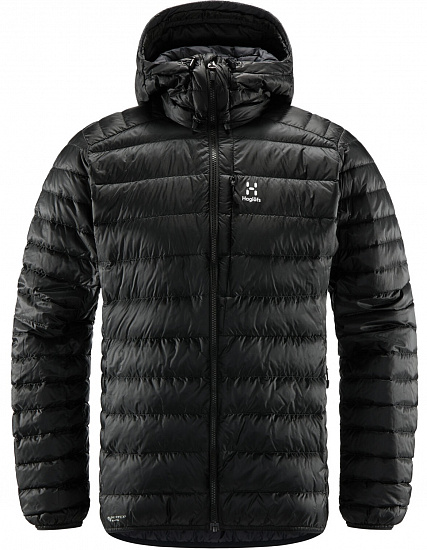 Куртка мужская Haglofs Roc Down Hood True Black - Фото 1 большая