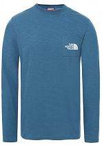 Футболка мужская The North Face L/S Tissaack Tee Mallard Blue