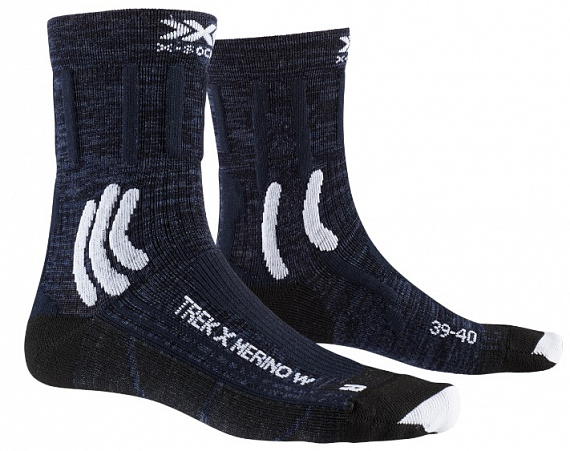 Носки женские X-Socks Trek X Merino Midnight Blue/Arctic White - Фото 1 большая