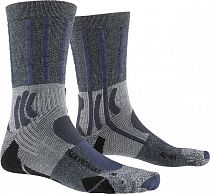 Носки X-socks Trek Path Ultra Lt Opal Black / Dolomite Grey Melange