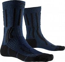 Носки X-Socks Trek X Ctn Midnight Blue Melange/Opal Black