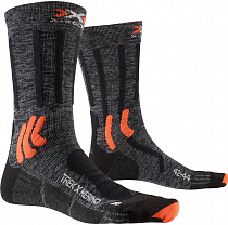Носки X-Socks Trek X Merino Grey Duo Melange/X-Orange/Black