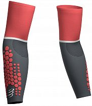 Рукава Compressport ArmForce Ultralight Коралл/Серый