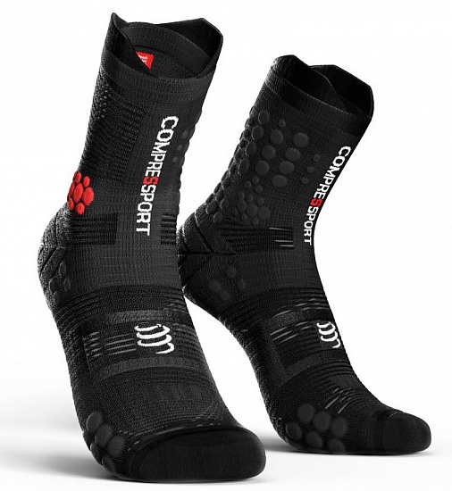 Носки Compressport Racing Socks V3.0 Trail Smart Black - Фото 1 большая