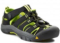 Сандалии детские Keen NeWPort H2 Black/Lime Green