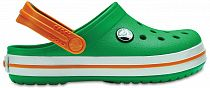 Сандалии детские Crocs Crocband Clog Grass Green/White/Blazing Orange