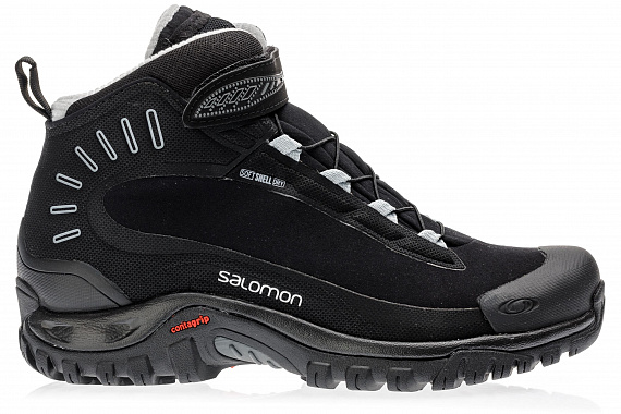 Ботинки мужские Salomon Deemax 3 TS WP Black/Black/Alloy - Фото 1 большая