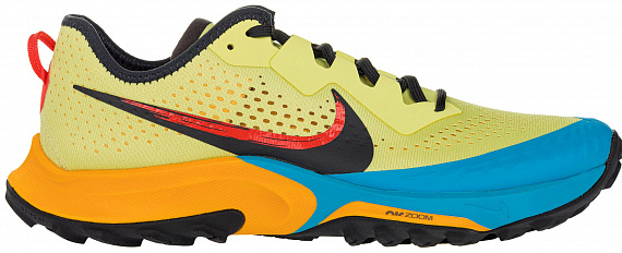 Кроссовки мужские Nike Air Zoom Terra Kiger 7 Limelight/Laser Blue/Dark Sulfur/Off Noir - Фото 1 большая