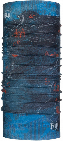 Бандана Buff Camino de Santiago CoolNet UV+ Peninsula Denim - Фото 1 большая