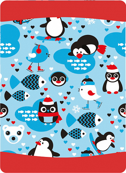 Бандана 4Fun Reversible Winter Penguin - Фото 1 большая